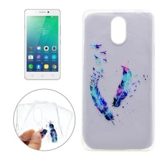 For Lenovo VIBE P1m Feather Pattern Transparent Soft TPU Protective Back Cover Case - intl