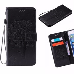 For LG K10 2017 Phone Case - PU Leather cellphone case Stent Wallet Flip Case - Lucky Wishing Tree - intl