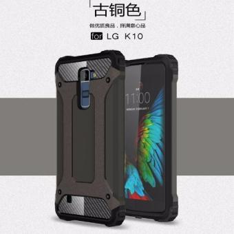 For LG K10 Hybrid Armor Phone Cover Case(Bronze) - intl - picture 2