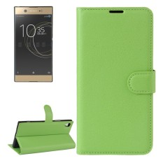 For Sony Xperia XA1 Ultra Litchi Texture Horizontal Flip Leather Case with Holder and Card Slots