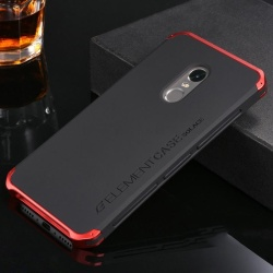 "For Xiaomi Redmi Note 4X 5.5"" inch Case Luxury Ultra thin Element Fashion Metal Aluminum Cell Phone Cases Mobile Back Cover--**32GB-Standard Version (Black&Red) - intl"