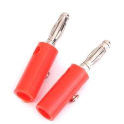 Four mm Insulated Banana Plugs Jack Connectors New 10Pcs Red+Black