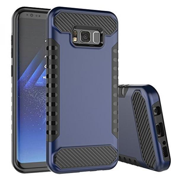 Galaxy S8 Plus Case,Spevert Dual Layer Hybrid Hard Back Soft TPU Raised Edge Shock