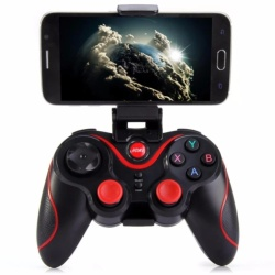 Gen Game S3 Wireless Bluetooth Gamepad Controller with Bracket (Black)