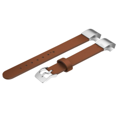 Genuine Leather Replacement Watch Band Strap Bracelet for Fitbit Alta Brown