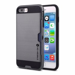 Go Mobile Gears Kado Card Slot Case for Apple iPhone 7 (Silver)