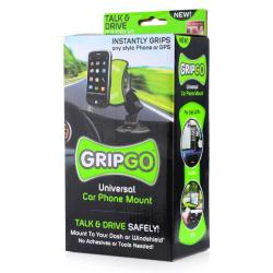 GripGo Universal Adhesive 360 Car Mount for Mobile Phone GPS