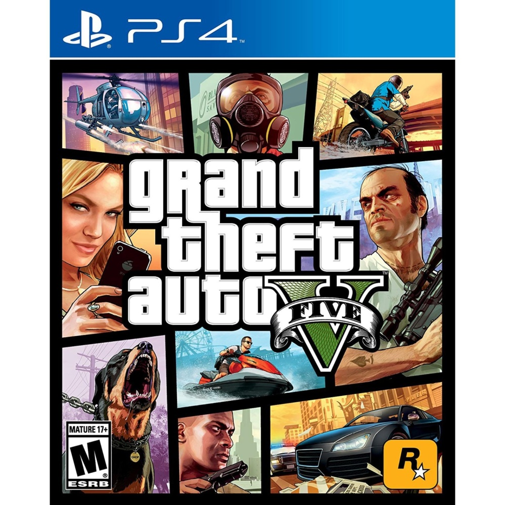 GTA V GRAND THEFT AUTO 5 (R3) PS4 GAME MINT CONDITION