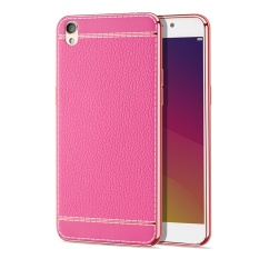 GZ Luxury PU Litchi Grain Painting Soft TPU Back Cover Case For Oppo R9 / Oppo