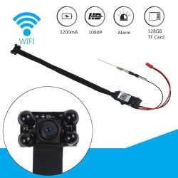 HD 1080P Wireless Mini WiFi Hidden Camera DIY Module IP DV DVR Nanny RC Cam Black - intl