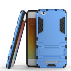 Heavy Duty Dual Layer Drop Protection Shockproof Armor Hybrid Steel Style Protective Cover Case with Self