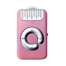 HKS 32GB Mini Clip Metal USB MP3 Player (Pink) - intl