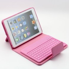 Hot Sale PU Leather Stand Case Cover with Removable Bluetooth Keyboard for iPad Mini 1 2