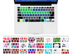 HRH Newest Serato DJ Shortcuts Hotkeys Silicone Keyboard cover keypad skin protective film for Macbook Pro