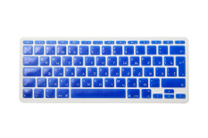 HRH Russian Silicone EU Keyboard Cover Skin Protector For Macbook Air 11.6 inch 11 (Blue