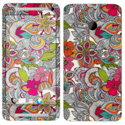 HTC One m7 Floral Pattern 23 Phone Skin Cover by OddStickers