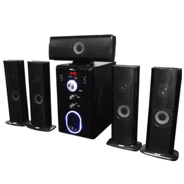 HUG H28-601 5.1 Home Theater Subwoofer Speaker with USB Slot and FM Radio