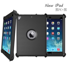 HUIH New Fashionable Apple iPad 9.7 (2017) Hybrid Double Colors Case Shockproof Absorption 3 in 1 Combo Heavy Duty Armor Hard Back Case For Apple iPad ...