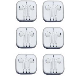 In-Ear Headphone for Smart Phone Set of 6 (White)
