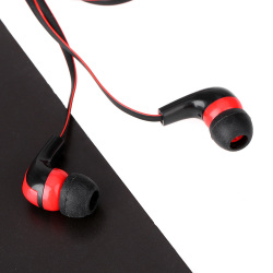 In-ear Piston Microphone Earphone Headset with Earbud Listening Music  for Smartphone MP3 MP4 (Black) (Intl)