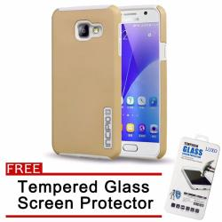Incipio TPU Back Case Cover for Samsung Galaxy A9 Pro (Gold) with Free Tempered Glass Screen Protector