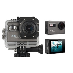 isoopmn WIFI 4K Ultra HD Sport Action Camera 1080P 60fps HDMI 20MP+ 170 Degree Wide Viewing Angle Waterproof DV Camcorder for Outdoor Sports, Silver - intl