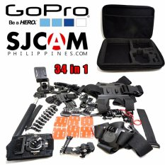 J3 Gopro Set 34 in 1 Mount Set Kit for Go Pro Hero 5 4 session