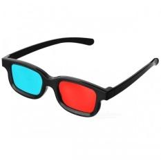 JEDX Universal 3D Plastic Frame Glasses - Black + Red + Blue (2 Pairs) c4d50c784b