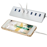 Jo.In Practical Creative 7 Ports Aluminum Alloy Silver USB 3.0 HUB - thumbnail 2