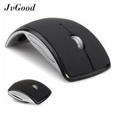JvGood 2.4 GHz Wireless Foldable Folding Arc Mice Optical Portable Mouse with USB Receiver for Laptop
