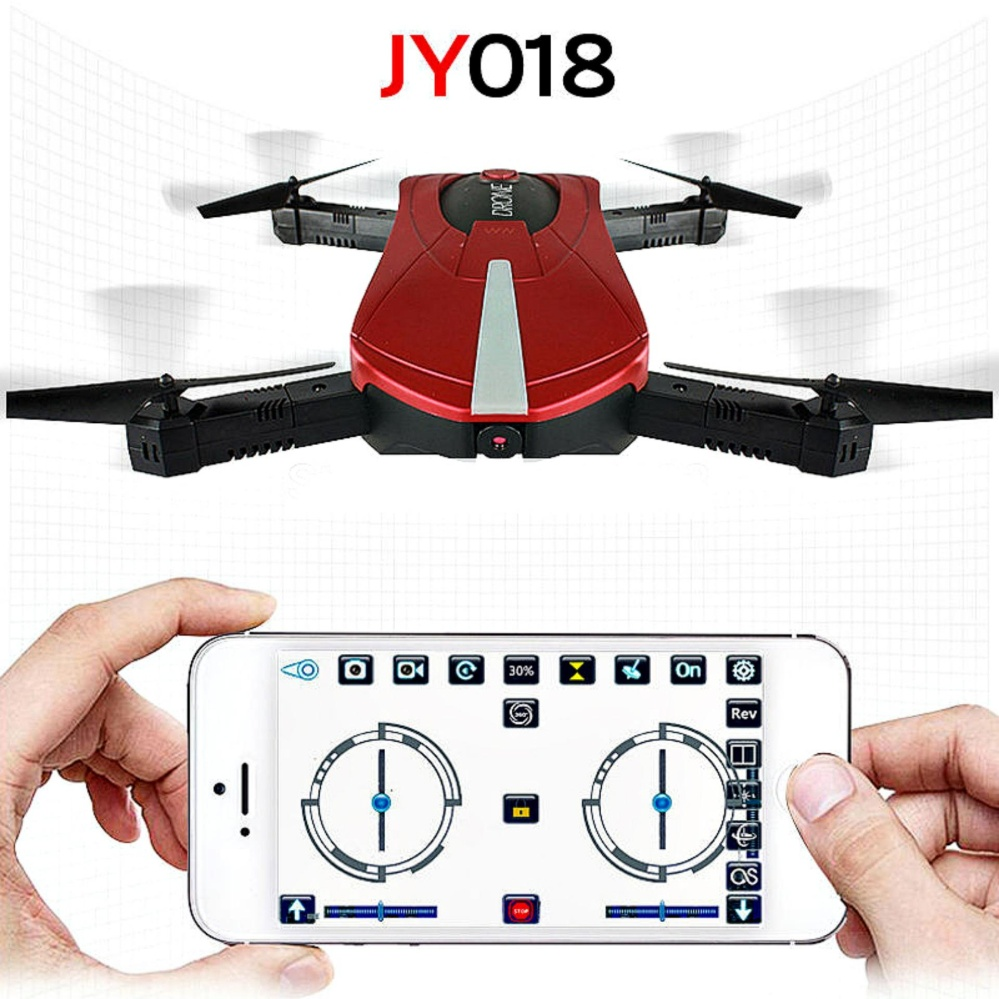 SK JY018 Portable 03 MP HD Camera Pocket Drone RED