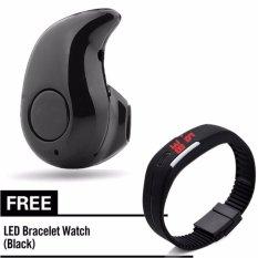 Kingdo S530 Bluetooth4.0 In-Ear Earphone Headphone With Free L6 Led Watch Black <e1-K6b-Kd-1> By Kingdo.