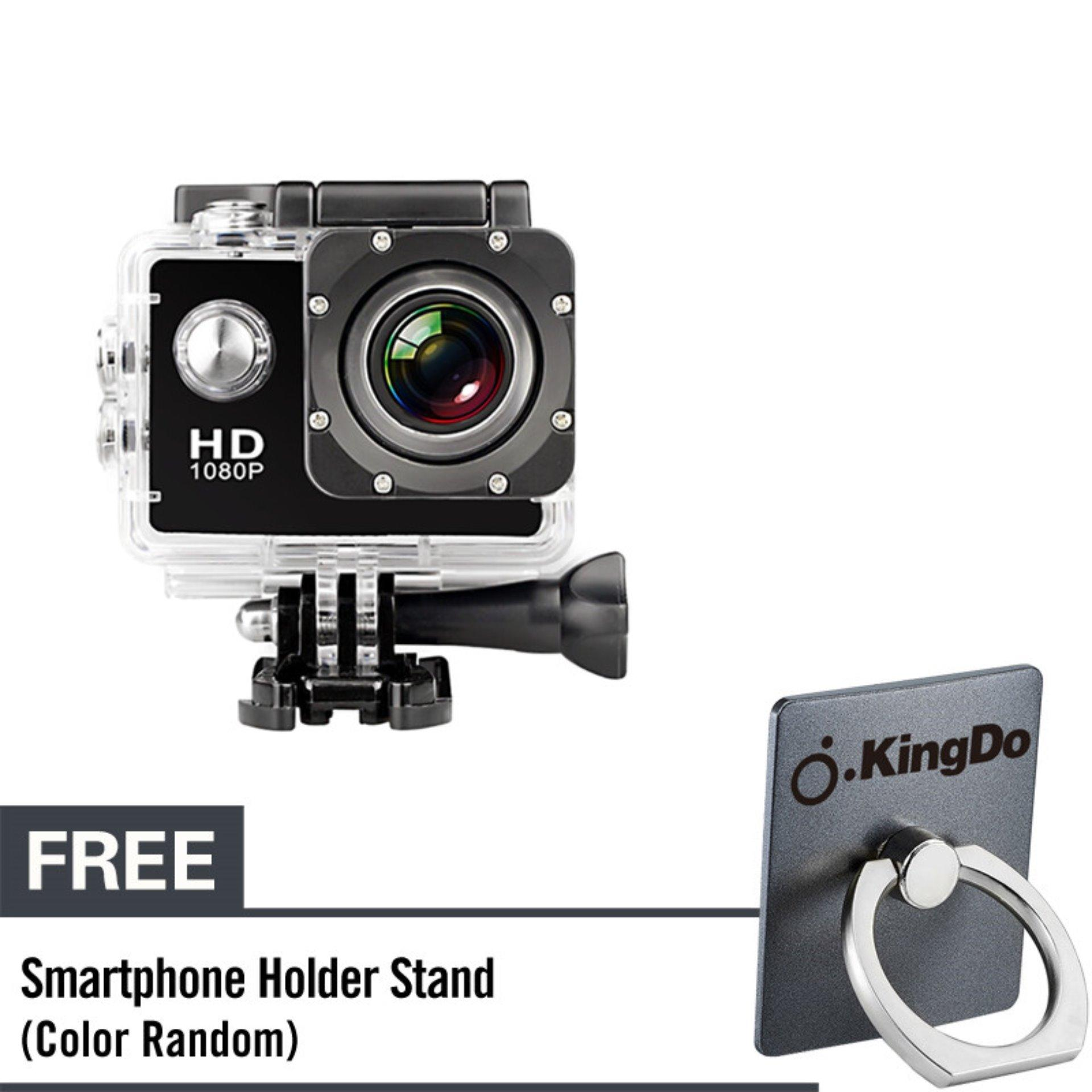 KingDo Waterproof Sports DV WiFi Extreme Sports Cameras Action Camera Full HD 1080P Diving Underwater 30m with Free Black Holder Stand for Smartphone Tablet PC product preview, discount at cheapest price