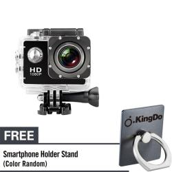 KingDo Waterproof Sports DV WiFi Extreme Sports Cameras Action Camera Full HD 1080P Diving Underwater 30m with Free Black Holder Stand for Smartphone Tablet PC
