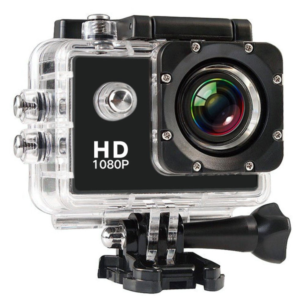 KingDo Waterproof Sports DV WiFi Extreme Sports Cameras Action Camera Full HD 1080P Diving Underwater 30m with Free Black Holder Stand for Smartphone Tablet PC - thumbnail
