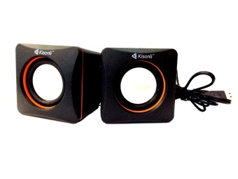 Kisonli V400 USB Active Loud Speaker Box (Black)