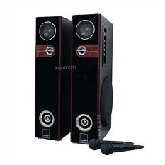 Konzert Ks-302ub Home Theater Karaoke Speaker Audio System Set With Bluetooth / Sd/ Usb Port (black) By Audio City.