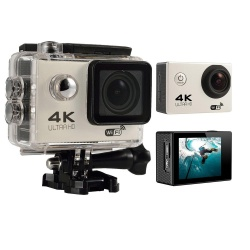 KuRun 4K HD Wifi Action Camera 2.0 Inch 170 Degree Wide Angle Lens Action Camera WIFI 4k Waterproof Sports Action Camera (Silver) - intl