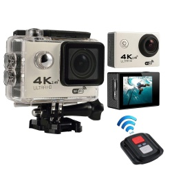 KuRun 4K HD Wifi Action Camera 2.0 Inch 170 Degree Wide Angle Lens Action Camera WIFI 4k Waterproof Sports Action Camera,Silver - intl