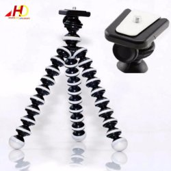 Large Octopus Flexible Tripod Stand Gorillapod Gorilla pod Octopus pod Camera Mobile Phone Tripod for Xiaomi YI Camera Go pro Hero 5/4/3+/3 Sj4000 Smartphone Smart Phone