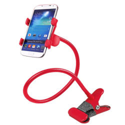 Lazypod with Universal Mobile Phone Holder (Red)