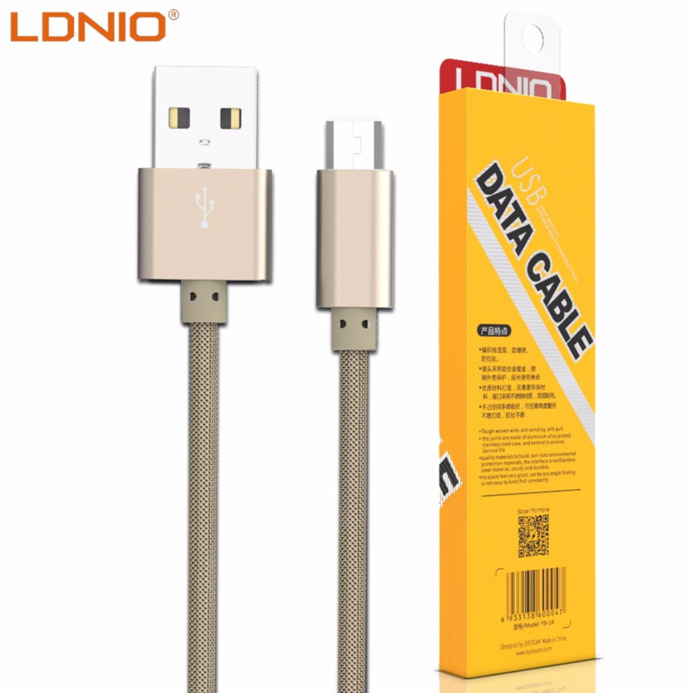 LDNIO LS08 1M Fast Charge Micro USB Cable for Android (Gold)