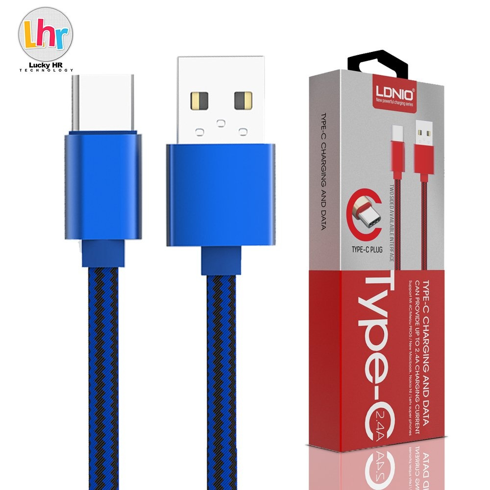LDNIO LS60 1M Type-C USB Data Charging Cable For Mi 4C / Meizu PRO5 (Blue)