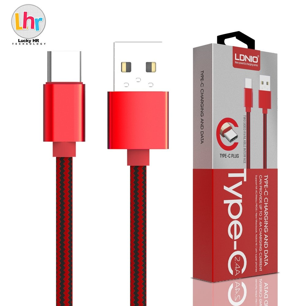 LDNIO LS60 1M Type-C USB Data Charging Cable For Mi 4C / Meizu PRO5 (Red)