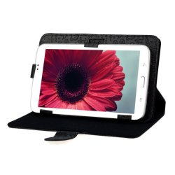 Leather Cover for Android Tablet PC MID (Black)