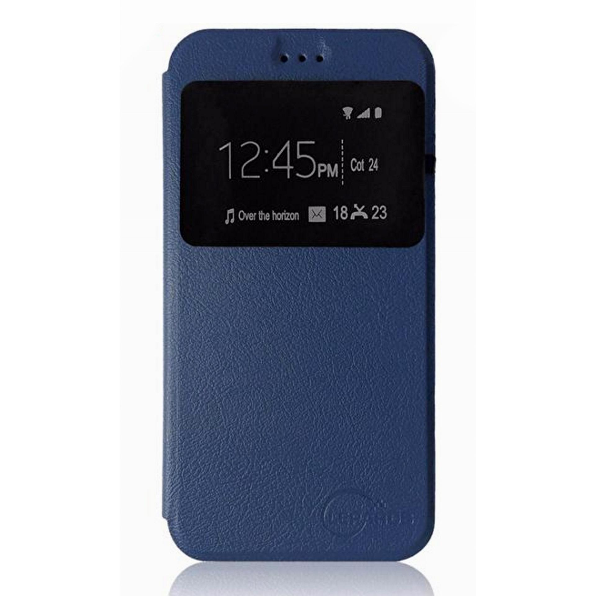 Leather Flip Cover for Huawei GR5 2017 (Blue)
