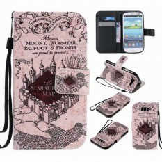 Leather Wallet Magnet Case For Samsung Galaxy S3 Neo Case Flip Cover Butterfly Samsung Galaxy S3