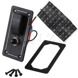LED Circuit Overload Rocker Switch Panel (Black)