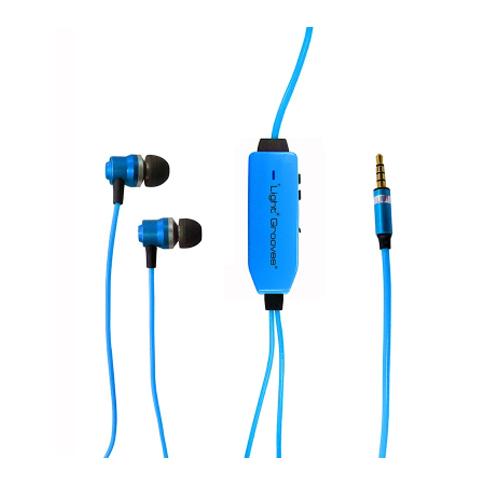 LightGrooves EP-101 In-Ear Headphones (Blue) - thumbnail