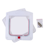 Lockable Cat Flap Door Kitten Dog Pet Lock Suitable for Any Wall White - thumbnail 1